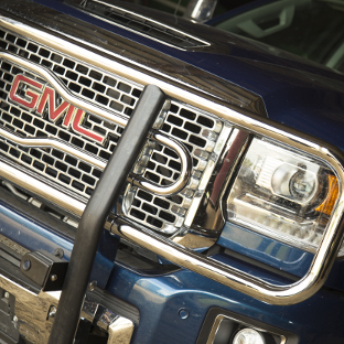 2017 GMC Sierra grille with LUVERNE 2 inch grille guard