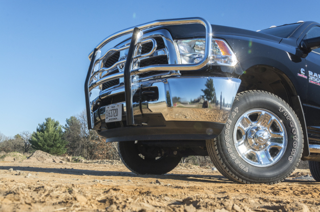 Black Ram 3500 work truck with LUVERNE grille guard