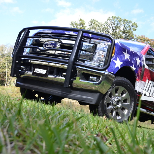 Custom USA Ford F250 with LUVERNE black grille guard