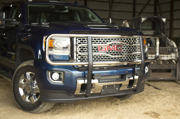 LUVERNE 2-inch tubular grille guard on 2017 GMC Sierra 3500HD