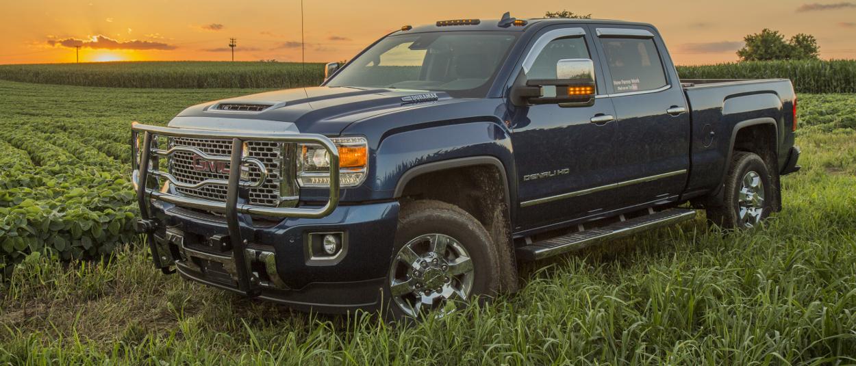 LUVERNE grille guard on 2017 GMC Sierra 3500HD farm truck