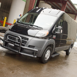 2017 Ram ProMaster 2500 work van with LUVERNE Grip Step Running Boards