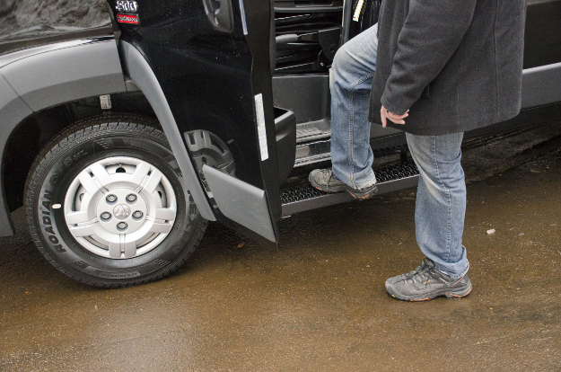 LUVERNE Grip Step™ running boards on 2017 Ram ProMaster 2500 work van