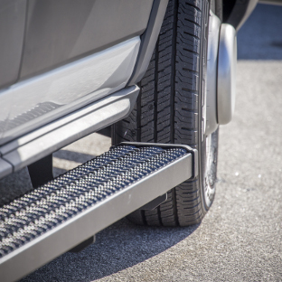 LUVERNE Grip Step running boards on commercial cargo van