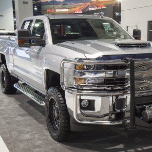 2017 Chevrolet Silverado 2500HD work truck with LUVERNE MegaStep® running boards
