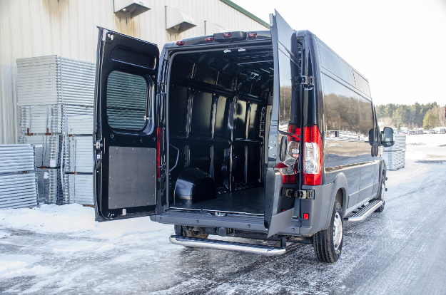 2017 Ram ProMaster 2500 with LUVERNE MegaStep® rear step