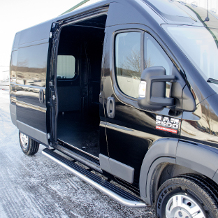 Black Ram ProMaster 2500 with LUVERNE MegaStep® running boards
