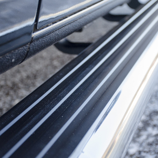 MegaStep® running boards with non-skid rubber treads by LUVERNE
