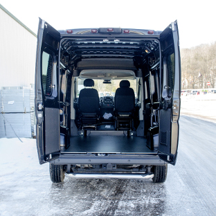 Ram ProMaster cargo van with LUVERNE MegaStep® rear step