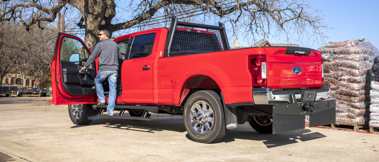 Luverne Mud Flaps On  Ford F Super Duty Work Truck