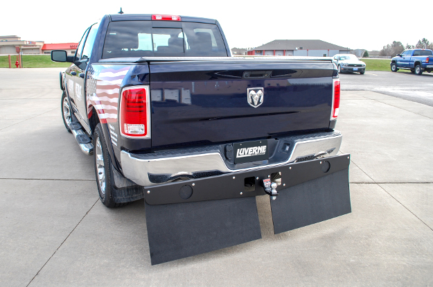 LUVERNE Textured Rubber Tow Guard trailering mud flaps on 2014 Ram 1500
