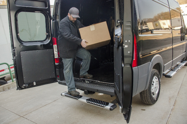 LUVERNE O-Mega II™ van steps rear step on 2017 Ram ProMaster 2500