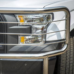 Ford F150 headlight cage on LUVERNE Prowler Max™ grille guard
