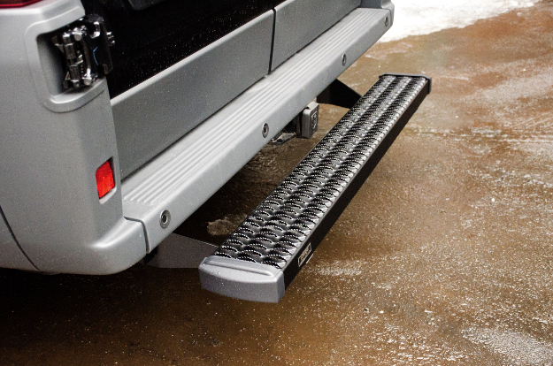 LUVERNE Grip Step™ rear step on cargo van