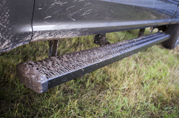 LUVERNE Grip Step™ running boards on muddy truck
