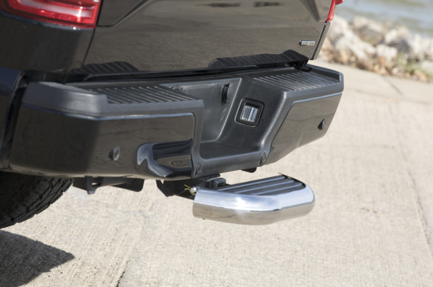 LUVERNE MegaStep® receiver hitch step on black Ford F150