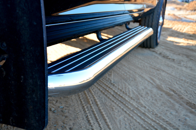 LUVERNE MegaStep® running boards on black work truck