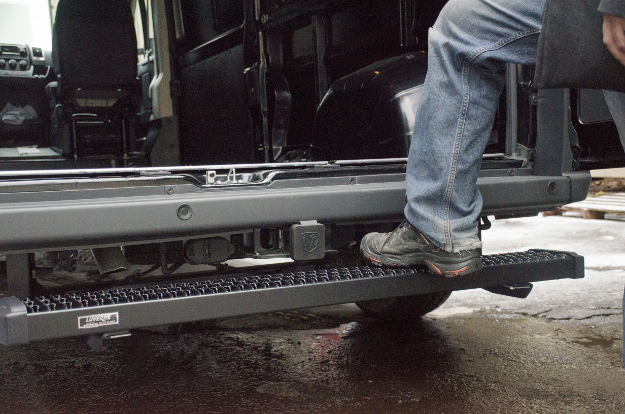 LUVERNE rear step Grip Step™ on Ram ProMaster