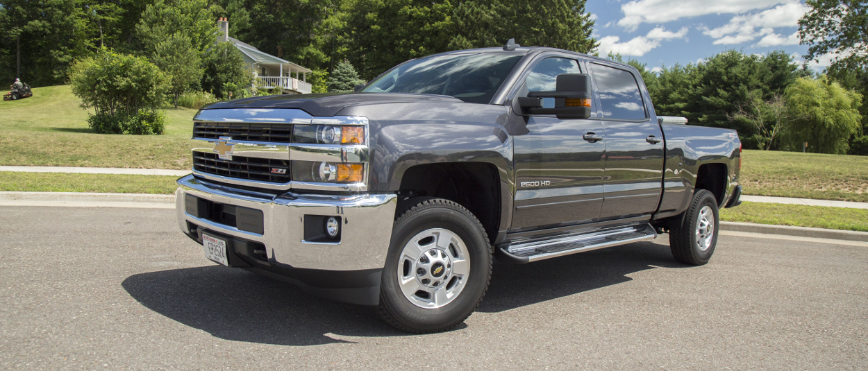Grey Chevrolet Silverado 2500HD with Side Entry Steps from LUVERNE