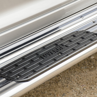 LUVERNE polished stainless steel truck side steps with black step pads