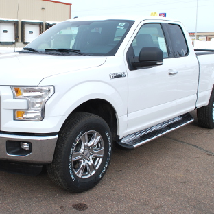 White Ford F150 with Side Entry Steps from LUVERNE
