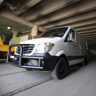 2016 Freightliner Sprinter 2500 commercial van with LUVERNE Tuff Guard® grille guard