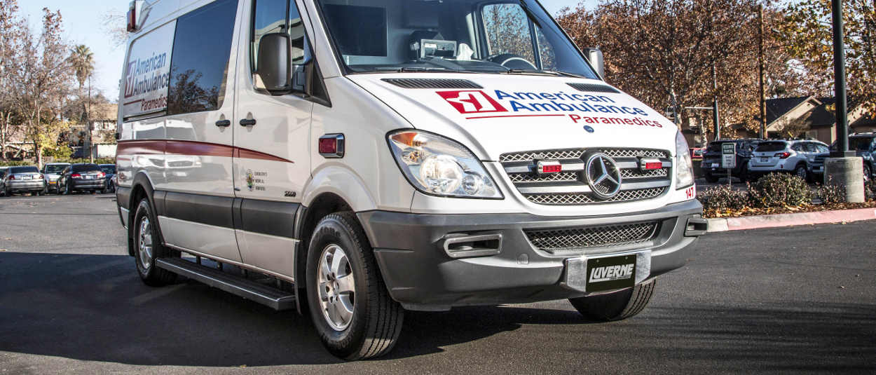 LUVERNE cargo van accessories on 2015 Mercedes-Benz Sprinter 2500 ambulance