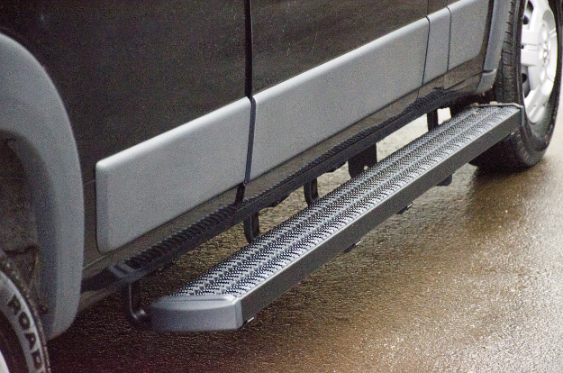 LUVERNE Grip Step™ running boards on Ram ProMaster 2500 cargo van