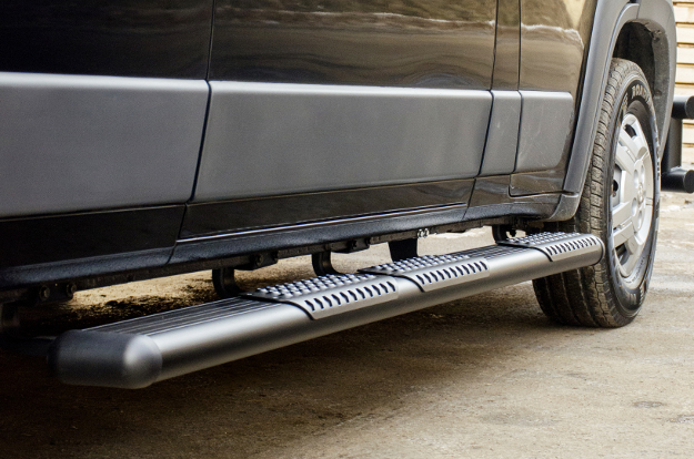 LUVERNE O-Mega II™ side steps on Ram ProMaster 2500 cargo van