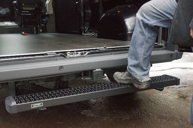 LUVERNE rear step Grip Step™ on Ram ProMaster cargo van