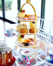 Pretty 3 Tier Cake Stand by Luxe Dream Event Hire. Perfect for a girl's afternoon tea party or baby shower