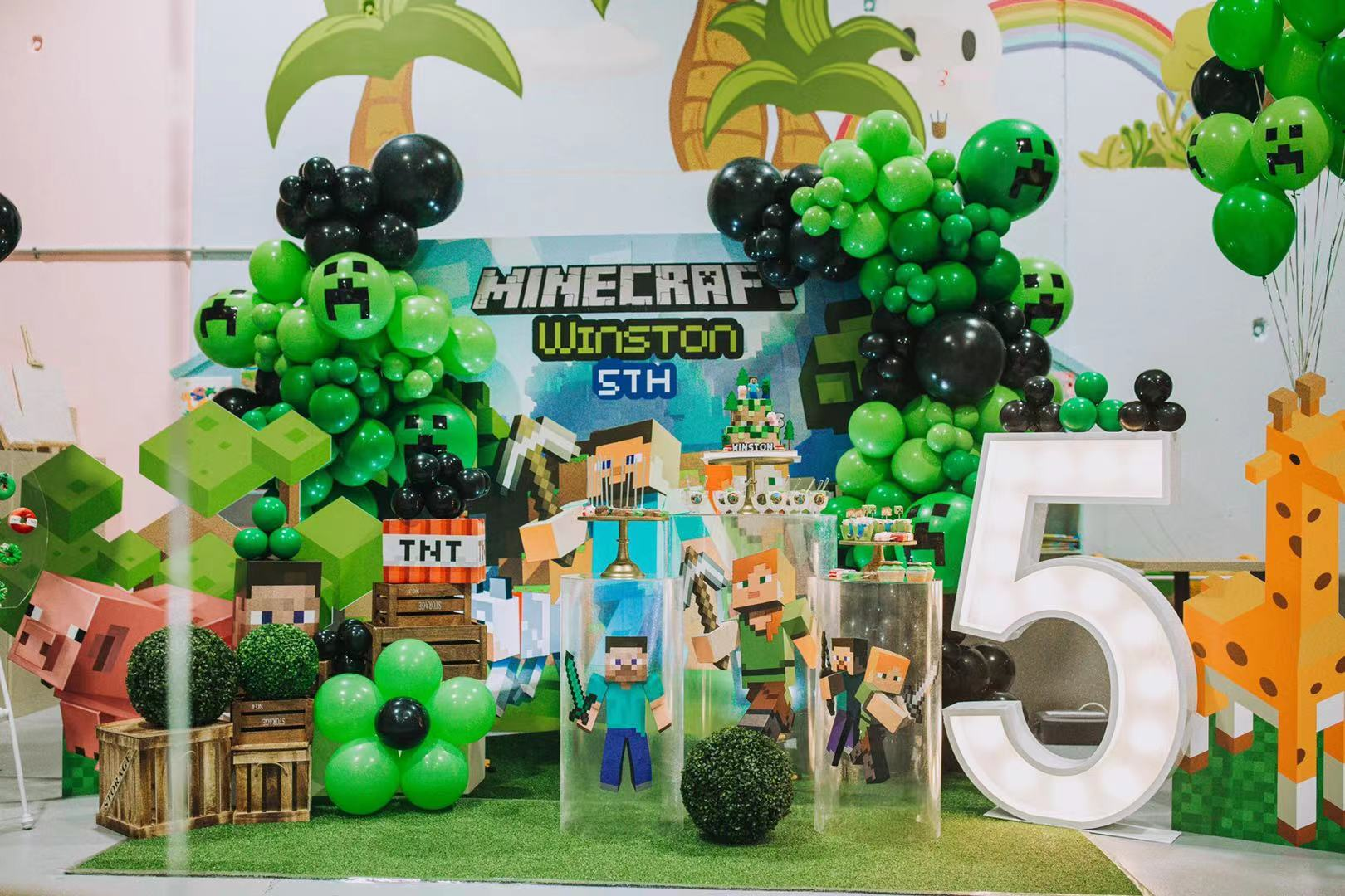 Minecraft Celebration // Styling and Hire from Luxe Dream