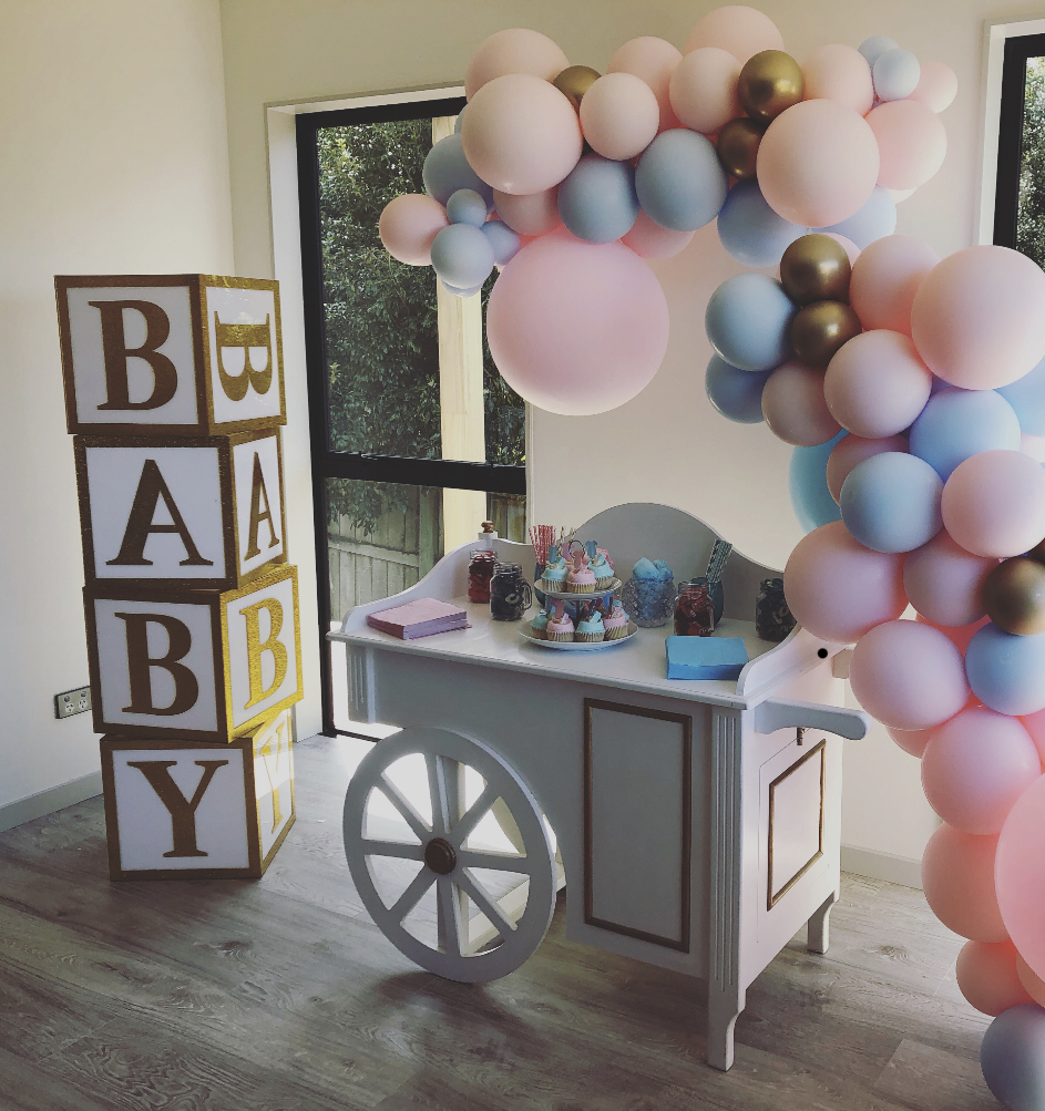 Acrylic 'BABY' Building Blocks by Luxe Dream Event Hire