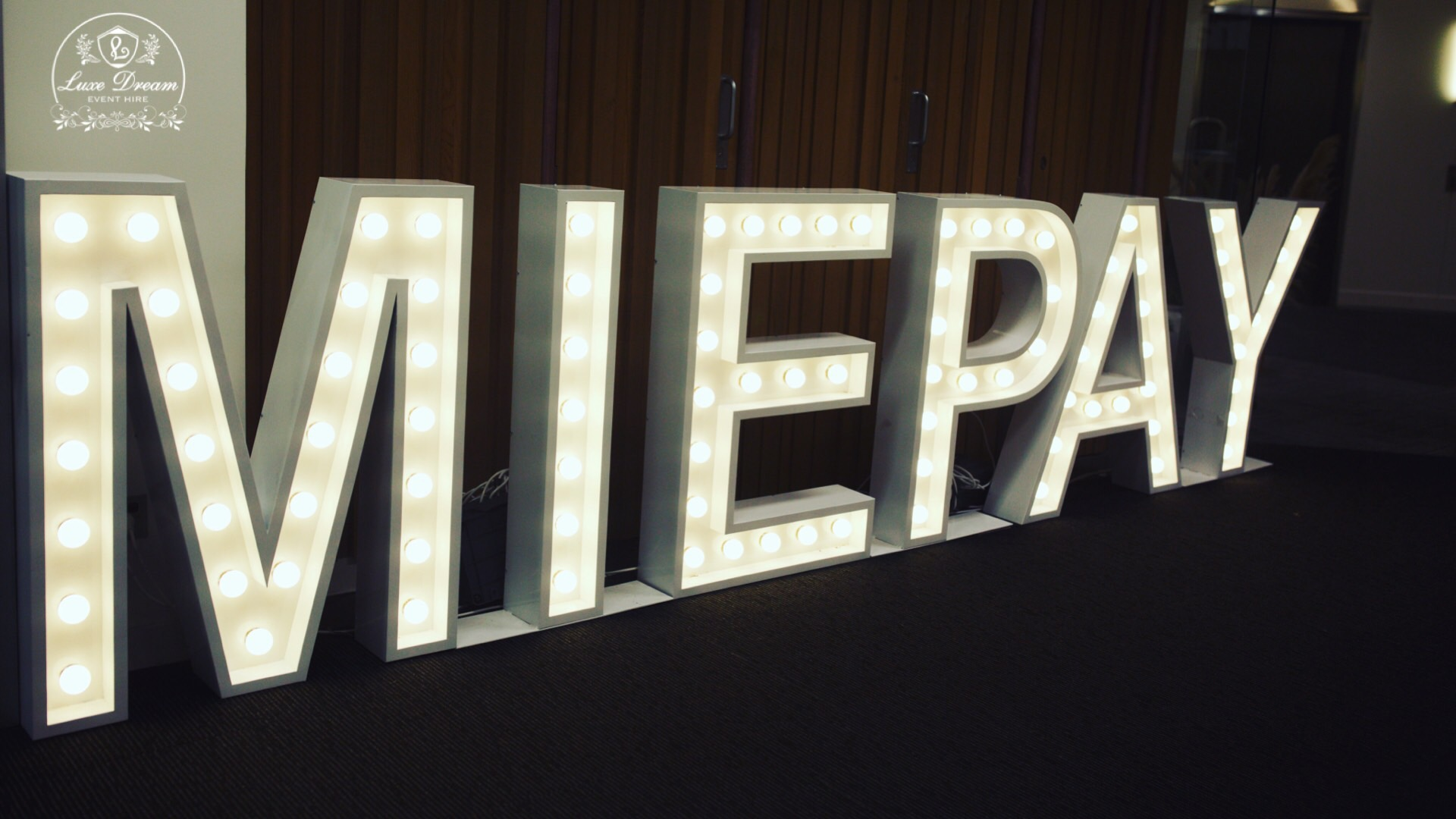 LED Letter Lights by Luxe Dream Event Hire