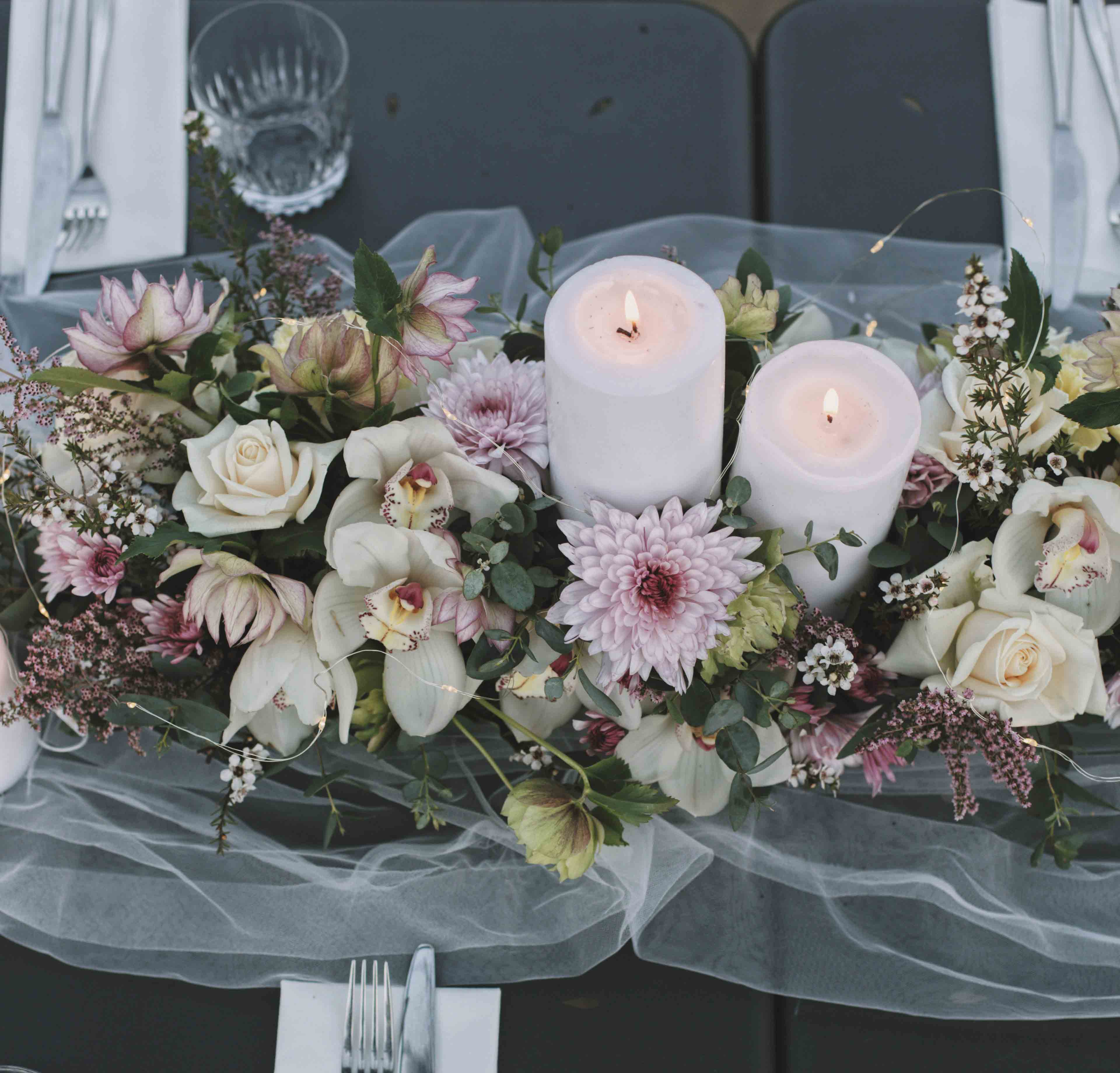Flowers by Luxe Dream Floral Studio.