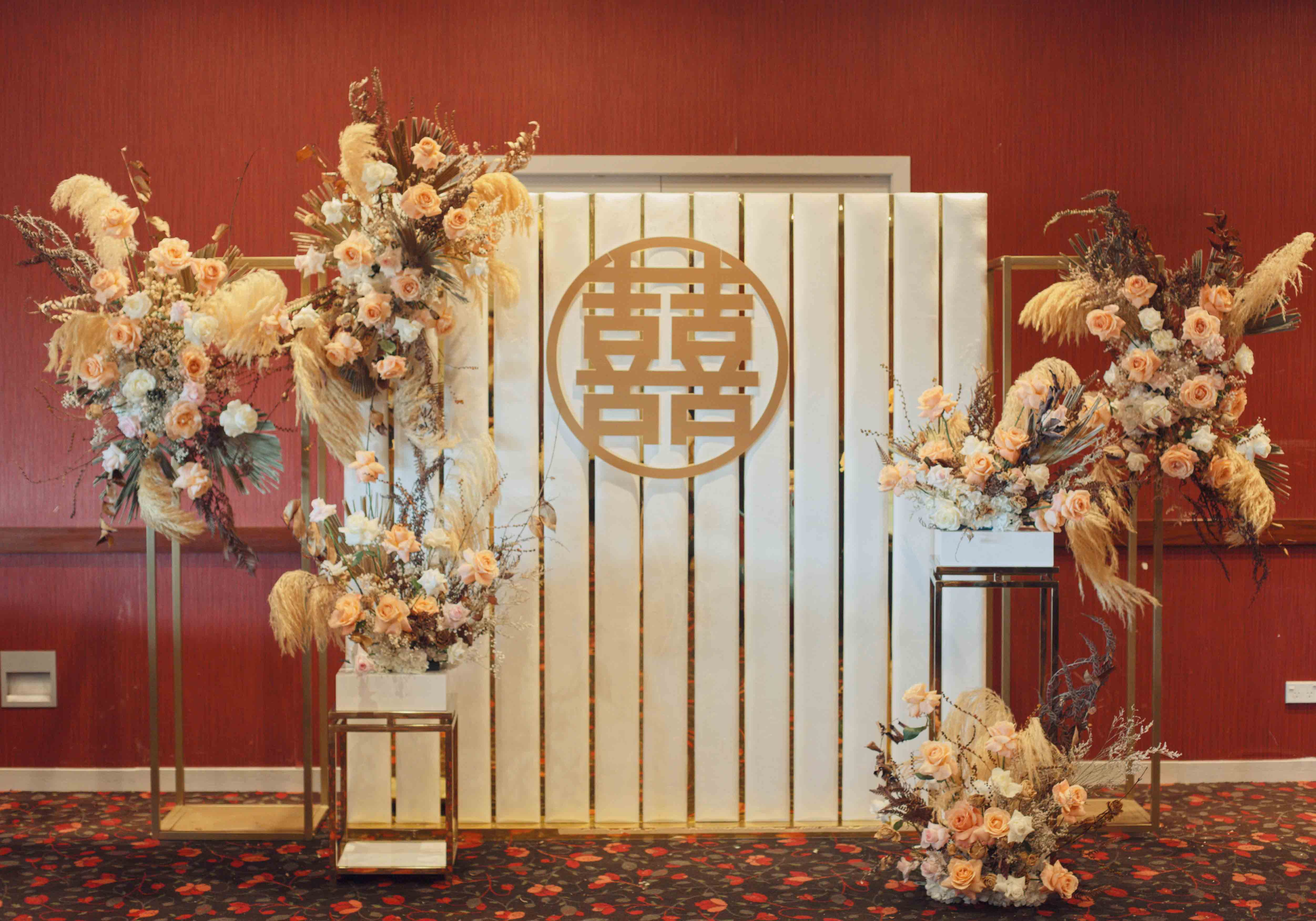 Twist on a traditional wedding banquet. Styling and Hire by Luxe Dream / Florals by Luxe Dream Floral Studio