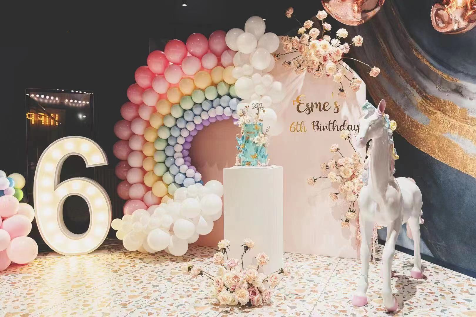 Magical Rainbow Celebration // Styling and Hire Luxe Dream, featuring our new pony!