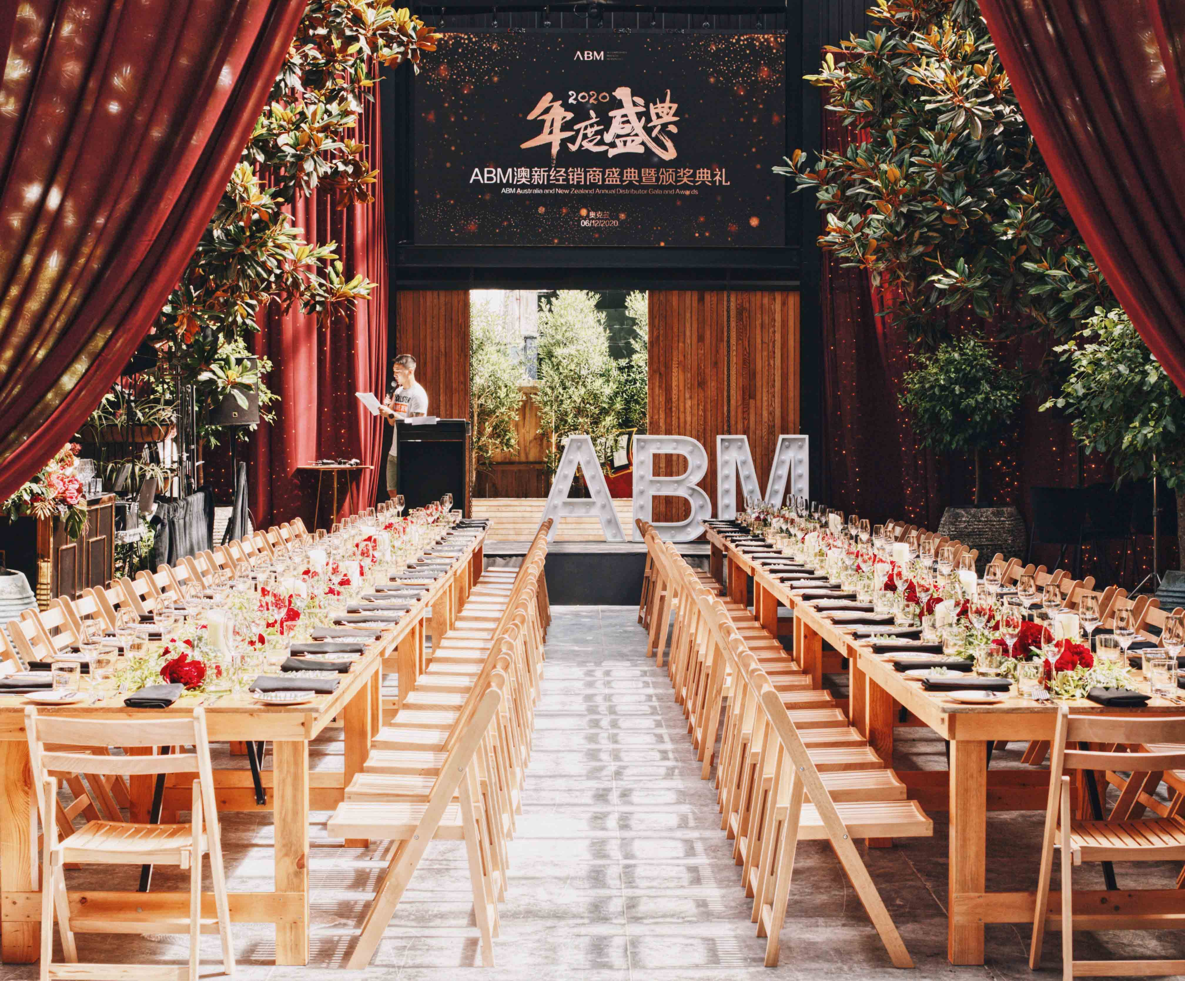 LED Letter Lights by Luxe Dream Event Hire / Table Runner Florals by Luxe Dream Floral Studio