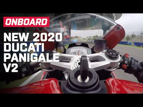 New 2020 Ducati Panigale V2 Onboard | First Ride Impression | Visordown.com