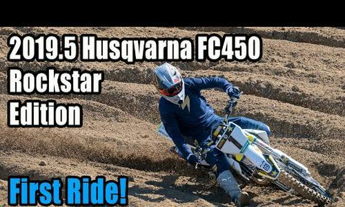 2019.5 Husqvarna FC450 Rockstar Edition Review – Video