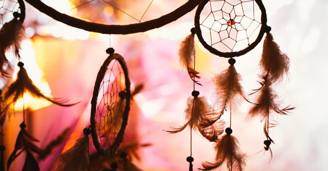 An assortment of dreamcatchers