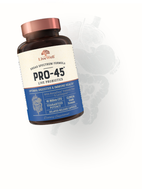 Pro 45 Natural Prebiotic Livewell Labs Livewell Labs