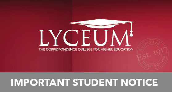 LYCEUM Important Notice Image