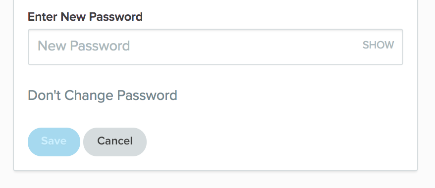 The edit password form