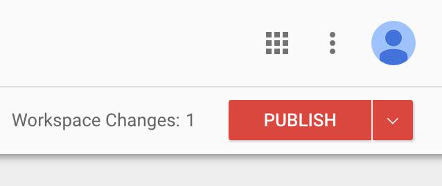 Workspace publish