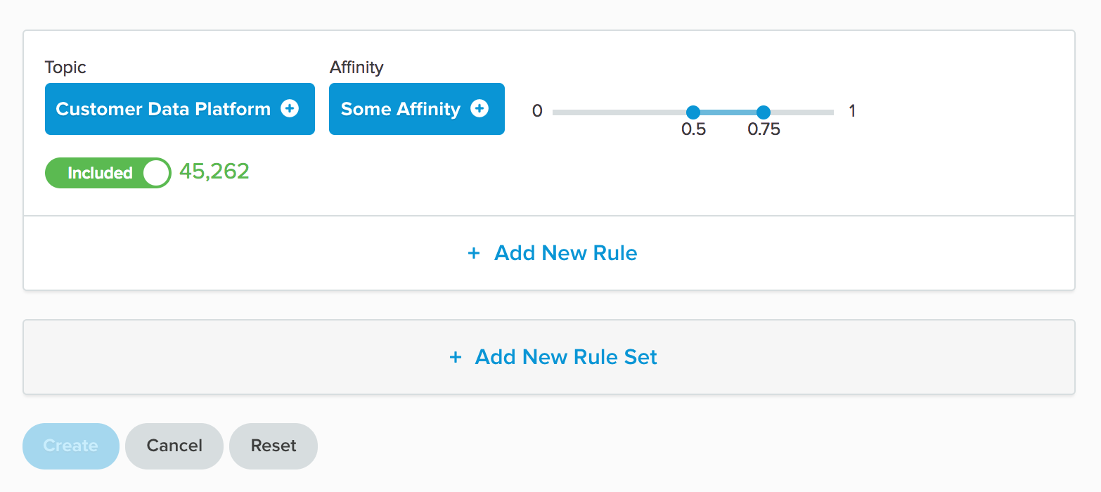 Content Affinity Rule in Builder