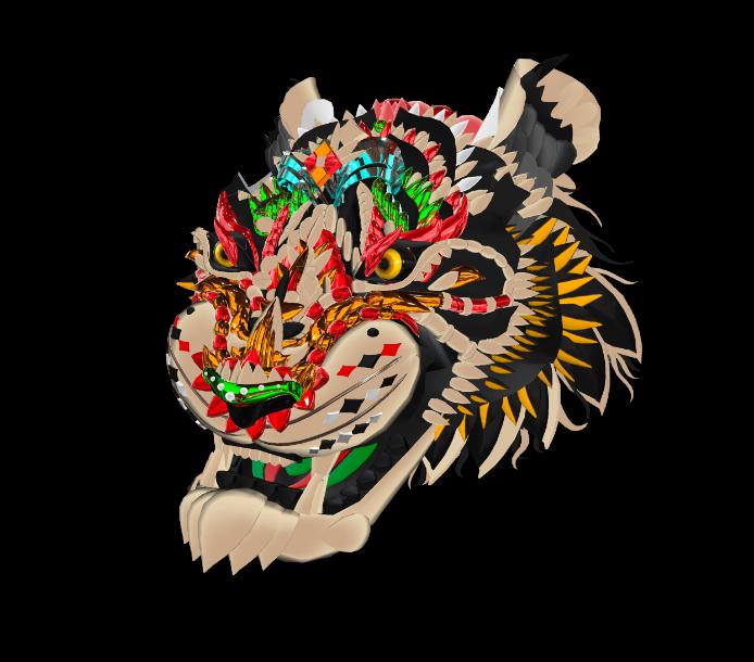 3d example tiger
