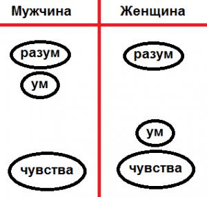 Рисунок 1. Ведическая схема психики
