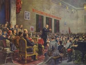 Ленин выступает на III съезде РКСМ