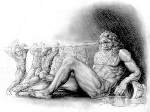 Под именем «Никто» Одиссей представился циклопу Полифему, и когда на вопли ослеплённого Одиссеем Полифема сбежались другие циклопы, то на их вопрос «Полифем, кто тебя обидел, что ты так вопишь?», тот честно ответил: «Коварный Никто». После этого все циклопы разошлись по своим делам, оставив Полифема наедине с его проблемами.